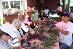 Wreath Class at the Sequim Lavender Festival
