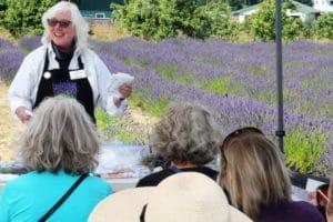Susan Harrington sharing at the Sequim Lavender Festival