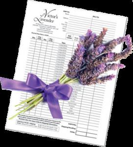 Victor's lavender Order Form