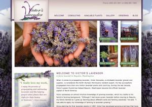 Victor's Lavender New Website